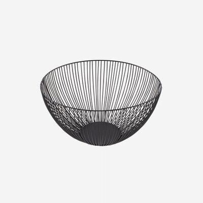 POINT-VIRGULE 'wire' fruitmand 25cm zwart