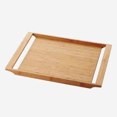 POINT-VIRGULE bamboe dienblad met handgrepen 47x35cm