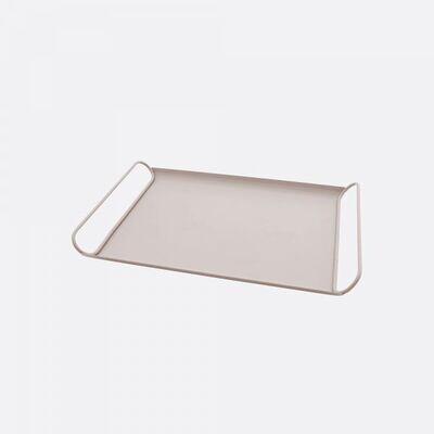 POINT-VIRGULE metalen dienblad poederroze 37x25cm