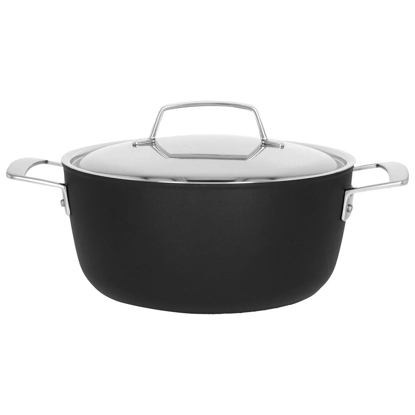 DEMEYERE 'alu pro 5 duraslide titanium' kookpot met deksel 24cm / 4,3L