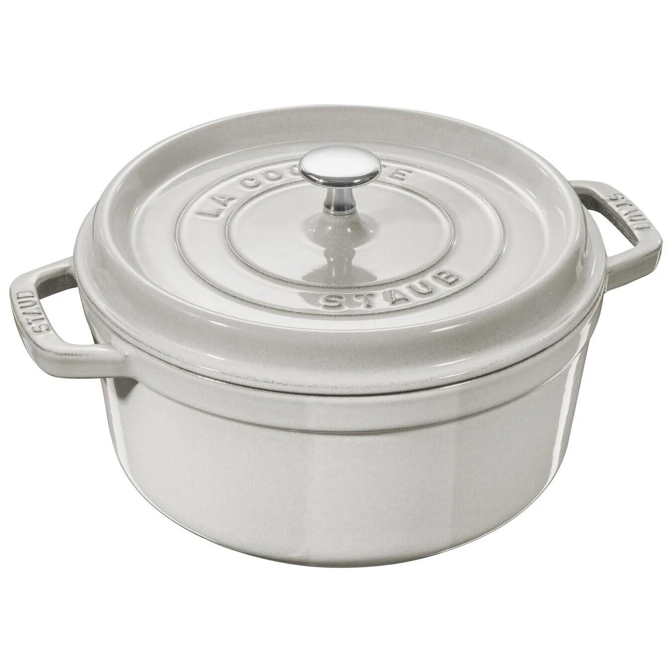 STAUB 'la cocotte' ronde stoofpot 24cm / 3,8L white truffle  PROMO 239,00 -20%