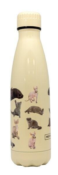 NERTHUS dubbelwandige drinkfles 500ml cats