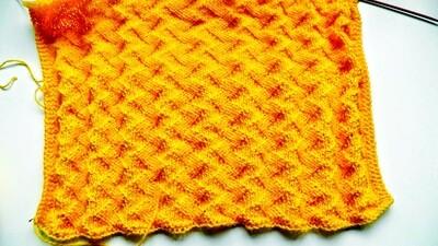 ZigZag stitch knitting pattern video & JPG - Woolpedia®