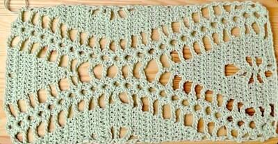 Rhomb stitch crochet pattern video & JPG - Woolpedia