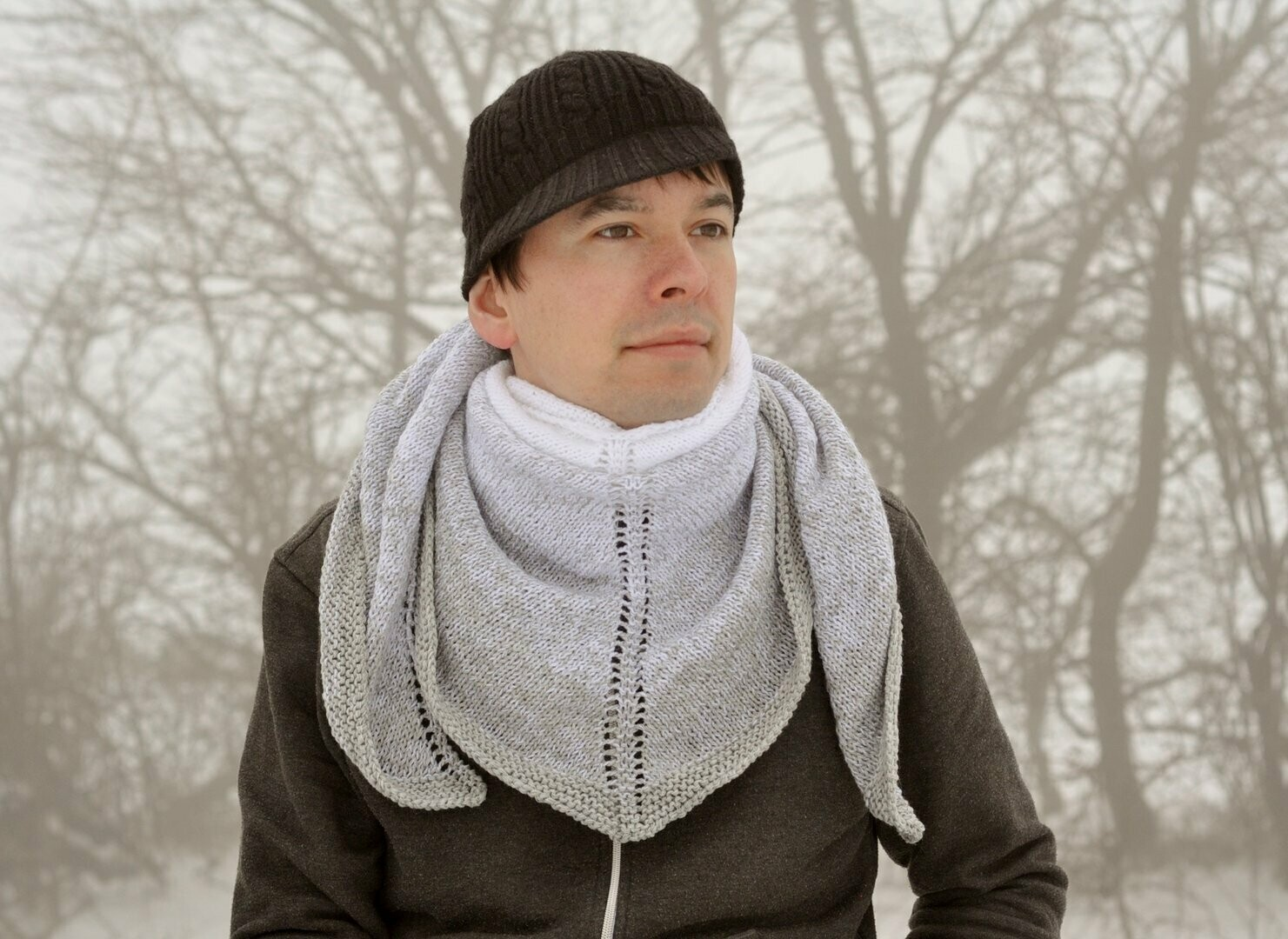 St. Moritz shawl knitting pattern video & PDF - Woolpedia®