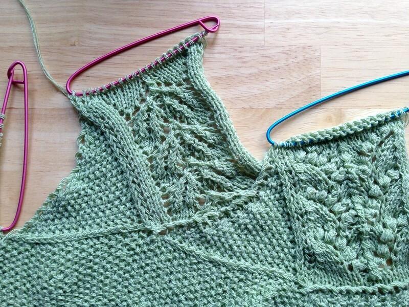 Forest Path Stole KAL knitting pattern video & PDF