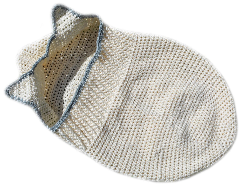Hooded baby cocoon crochet pattern PDF - Woolpedia®