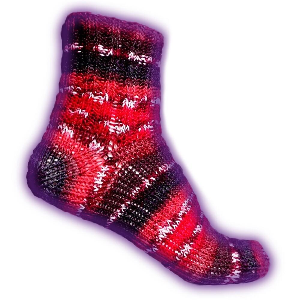 Socke mit nachträglicher Ferse Strickanleitung - Woolpedia®