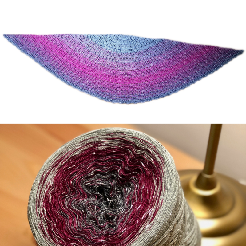 Woolpedia® Colors Ornamentus glitter yarncake (cotton-mix)
