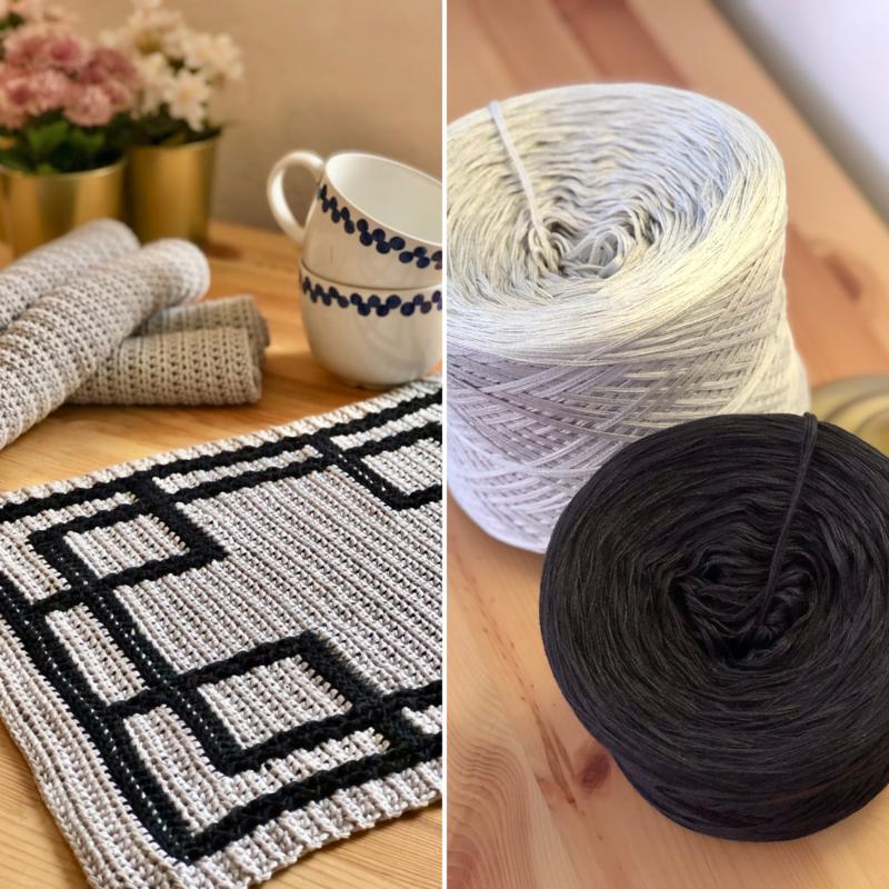Bundle: Crossroads tablecloth set - PDF & yarn