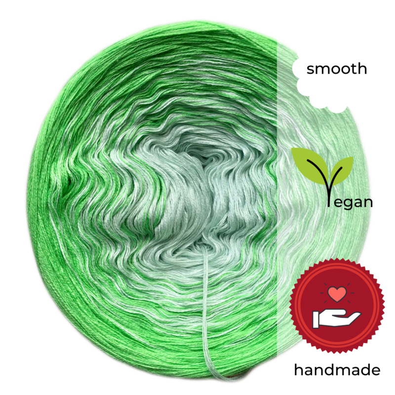Woolpedia® Colors Lemon Grass III gradient yarncake (cotton-mix)