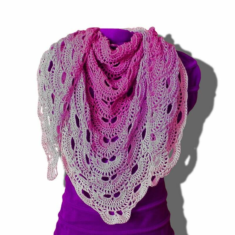 Virus shawl crochet pattern video & PDF