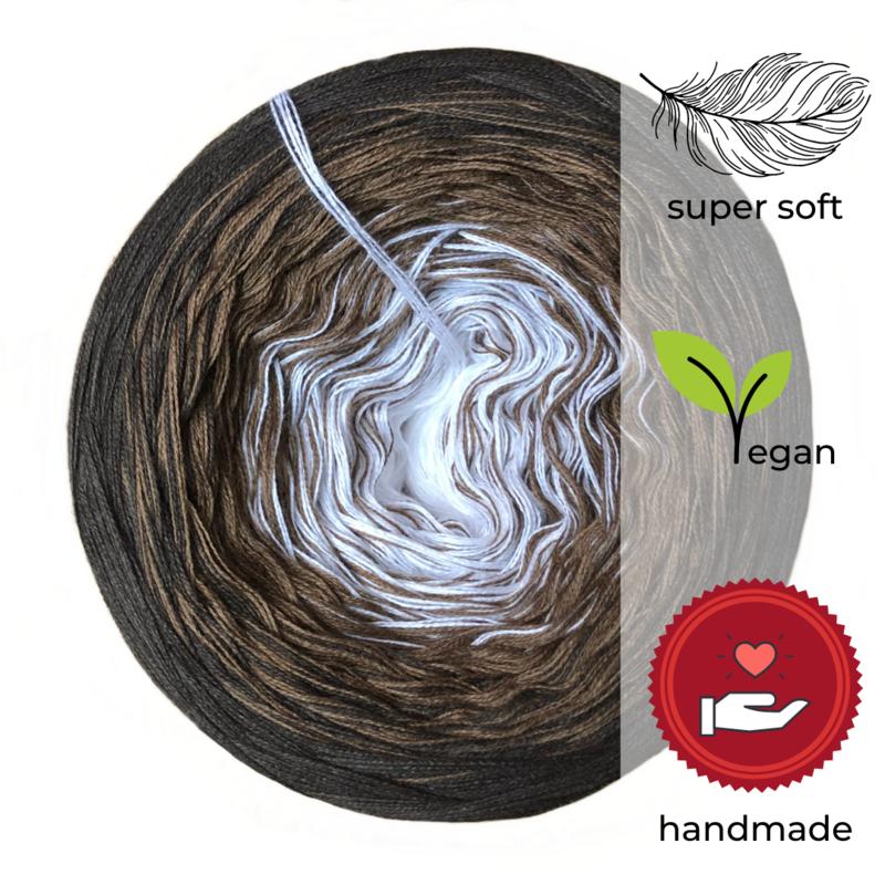 Woolpedia® Colors Chocolate Ice III gradient yarncake (modal)