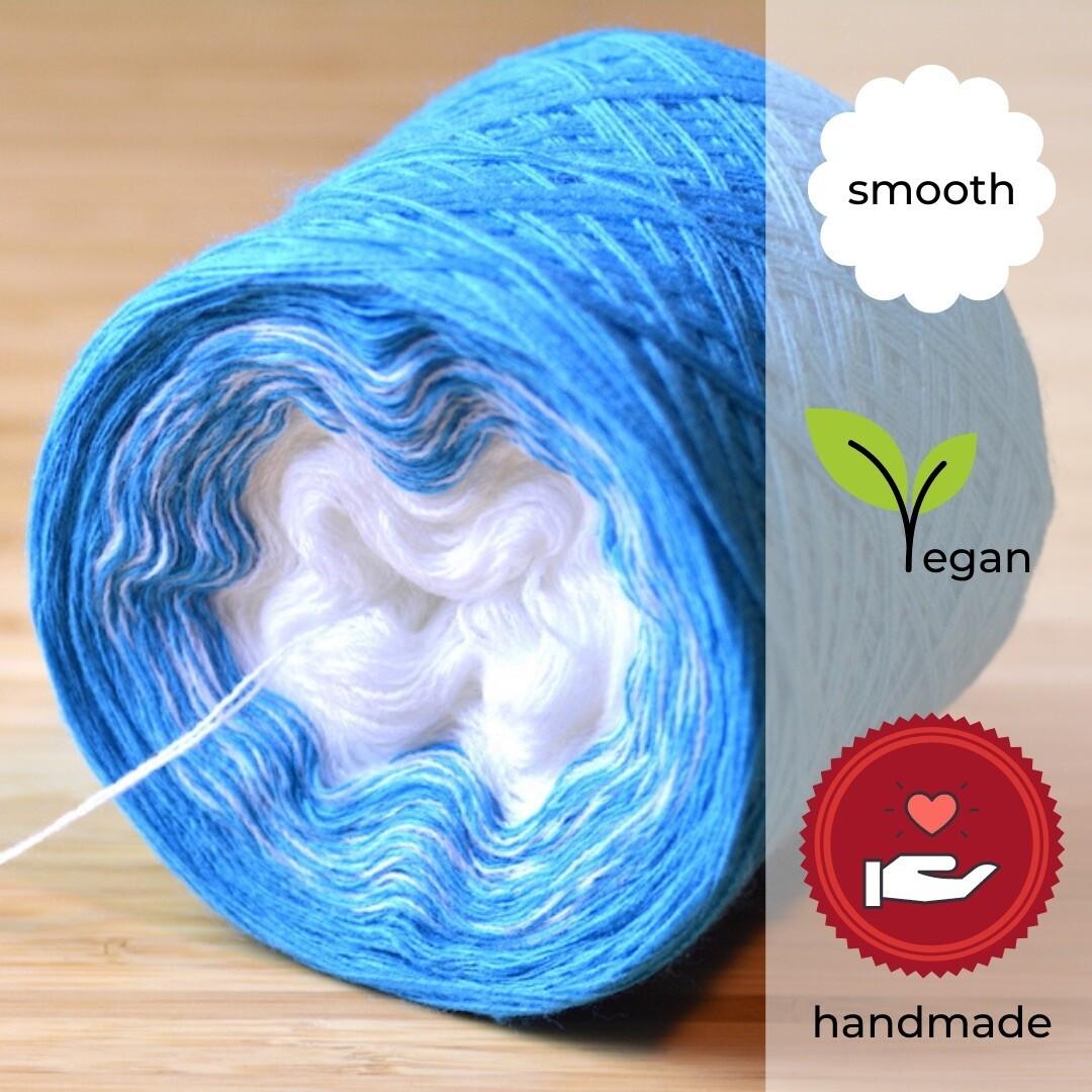 Woolpedia® Colors Eiszeit Farbverlaufsgarn (Baumwoll-Mix)