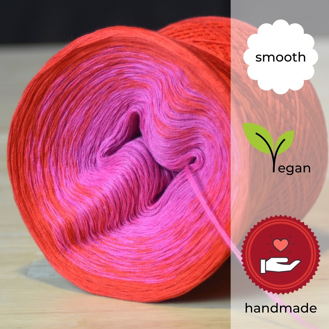 Woolpedia® Colors Kirsch-Sorbet gradient yarncake (cotton-mix)