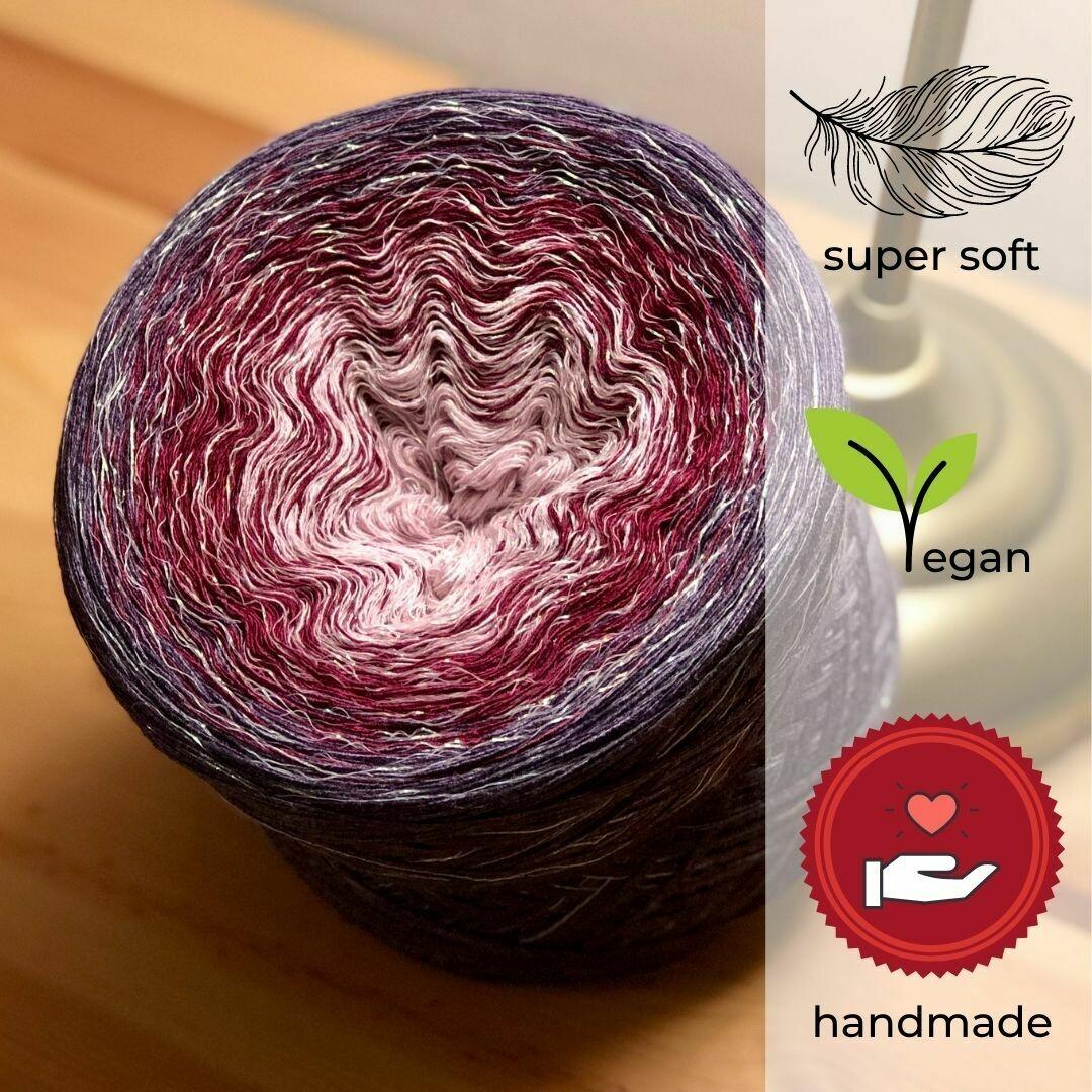 Woolpedia® Colors Lavendel Glitzer Farbverlaufsgarn (Modal)