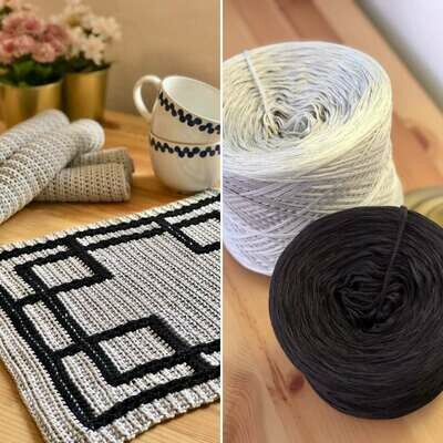 Bundle: Crossroads tablecloth set - PDF & yarn