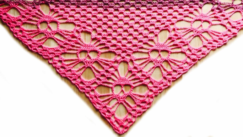 Skull shawl crochet pattern video & PDF