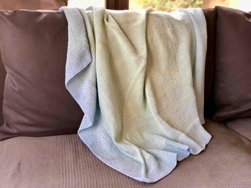 Baby blanket Aquarius knitting pattern PDF - Woolpedia®