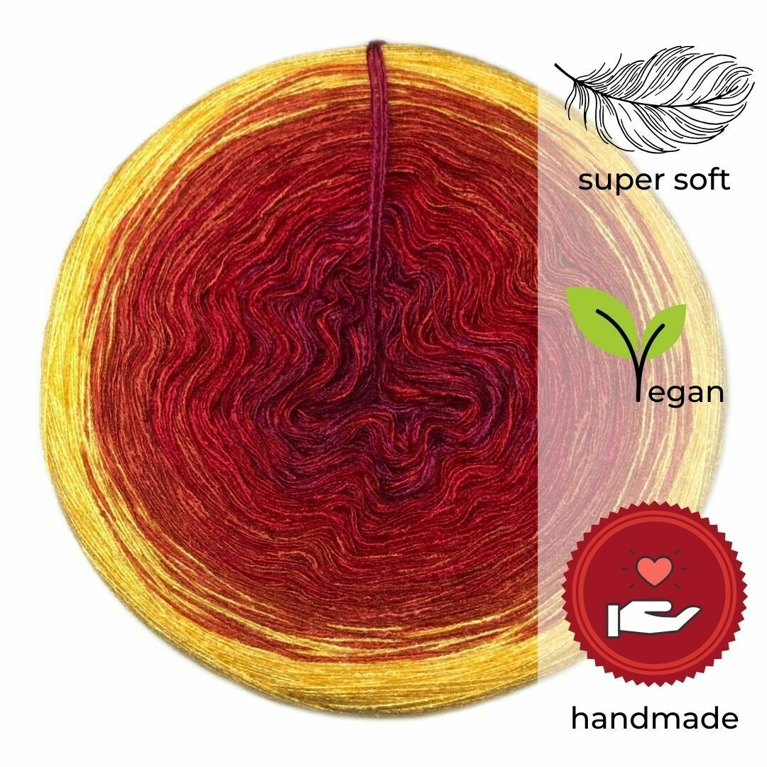 Woolpedia® Colors Indian Summer gradient yarncake (modal)