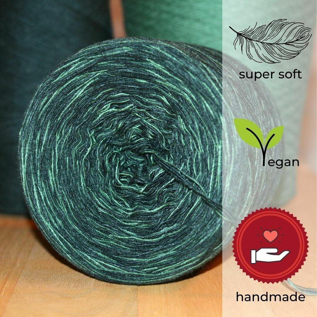 Woolpedia® Colors Tanne gradient yarncake (cotton-mix)