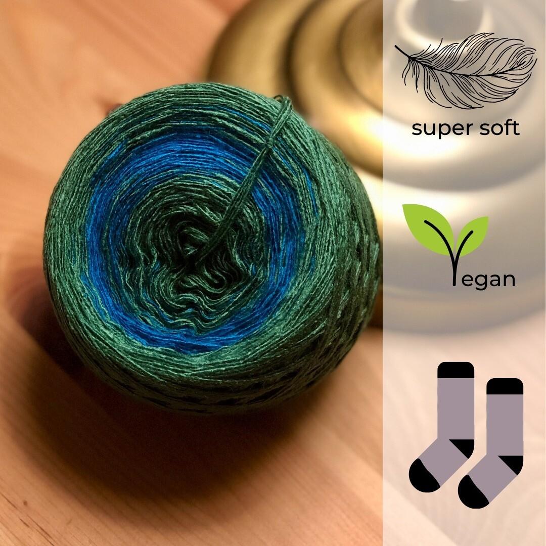 Woolpedia® Socks Blue Forest - modal gradient sock yarn