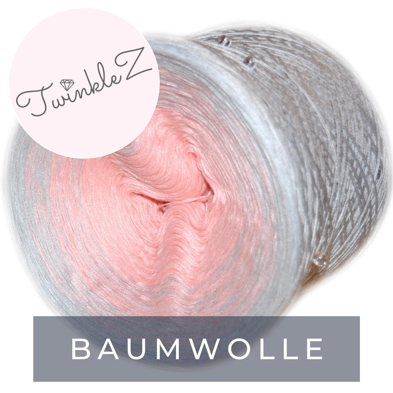 Woolpedia® TwinkleZ custom gradient beaded yarncake (cotton-mix)