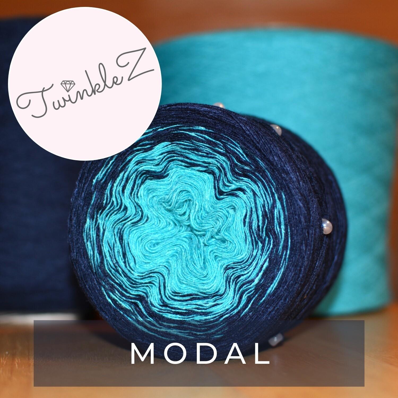Woolpedia® TwinkleZ custom gradient beaded yarncake (modal)
