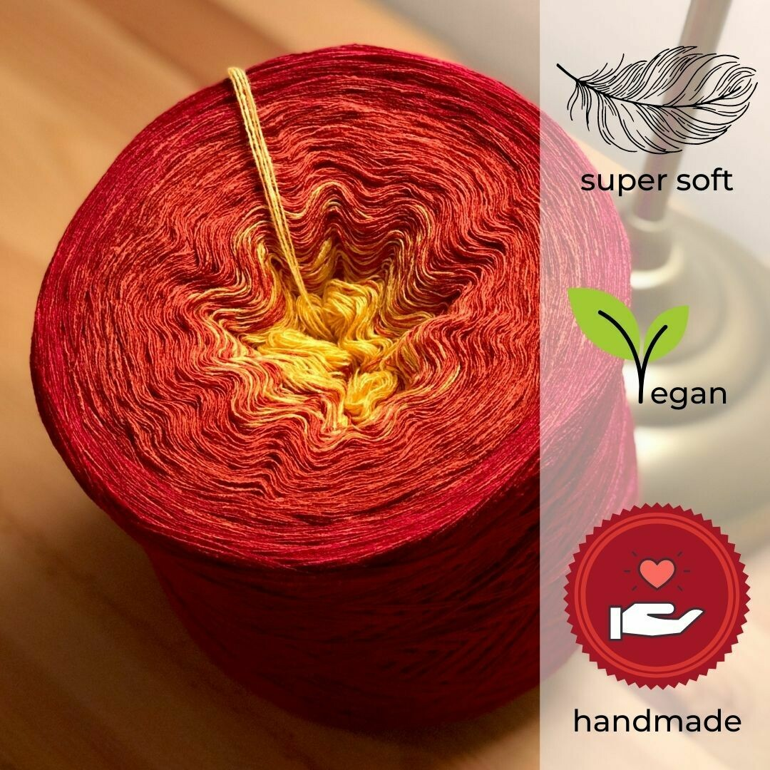 Woolpedia® Colors Fire gradient yarncake (modal)