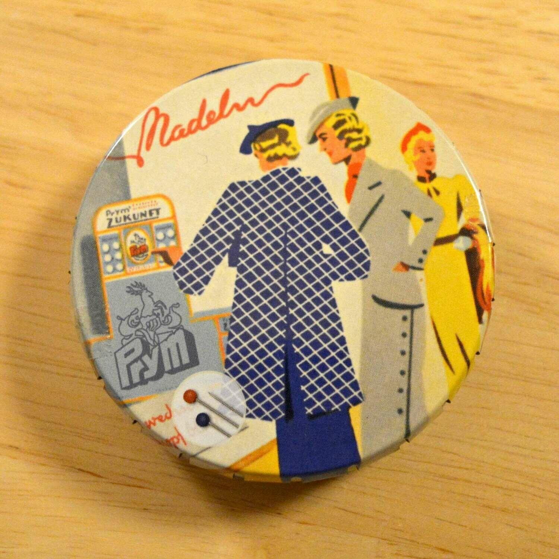 Prym glass-headed pins in nostalgia jar 20g