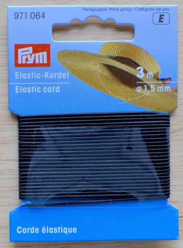 Prym elastic 1.5mm 3m black