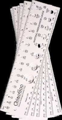 ChiaoGoo needle & swatch gauge 20cm