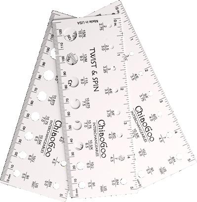 ChiaoGoo needle & swatch gauge 13cm
