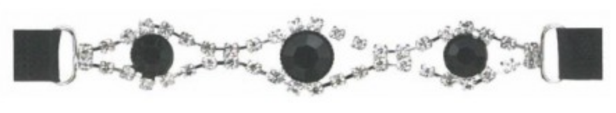 Prym Strass Träger für BH / Kleid / Tops - Black-Eye