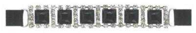Prym rhinestone straps for bra / dress / tops - black stones