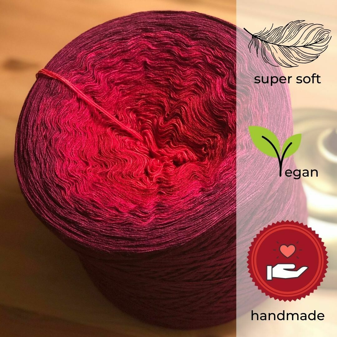 Woolpedia® Colors Rose Farbverlaufsgarn (Modal)