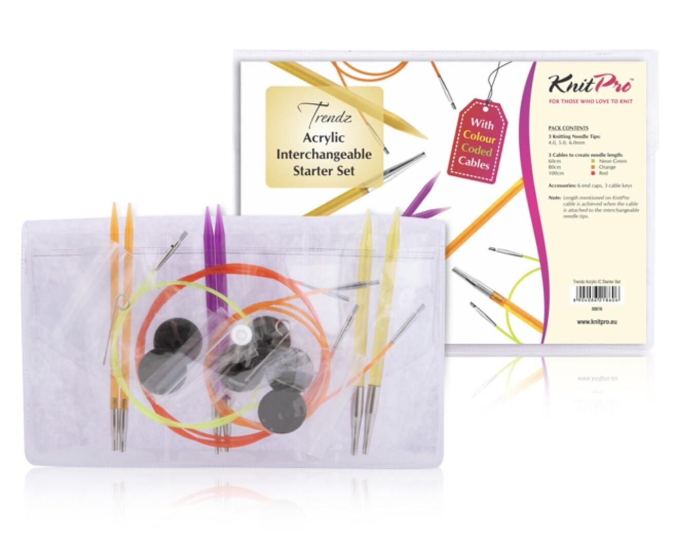 KnitPro Spectra Trendz starter kit knitting needles