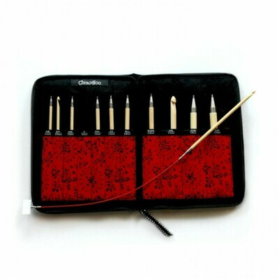 ChiaoGoo T-Spin Bamboo - tunisian crochet hooks set