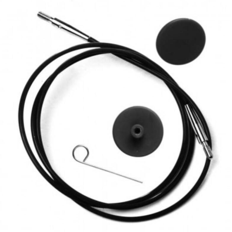 KnitPro cable black / silver