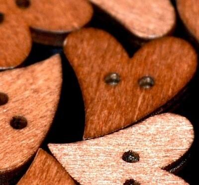 Wooden button #7