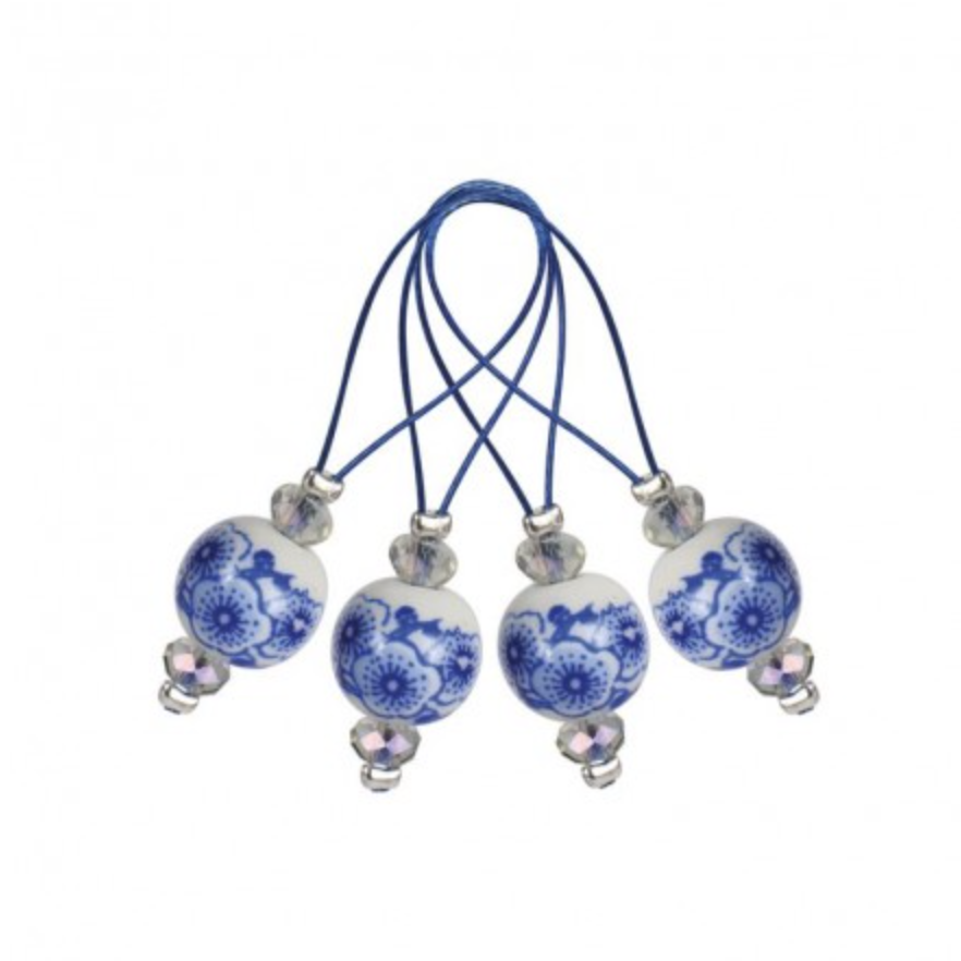 KnitPro 12 pieces stitch markers Blooming Blue