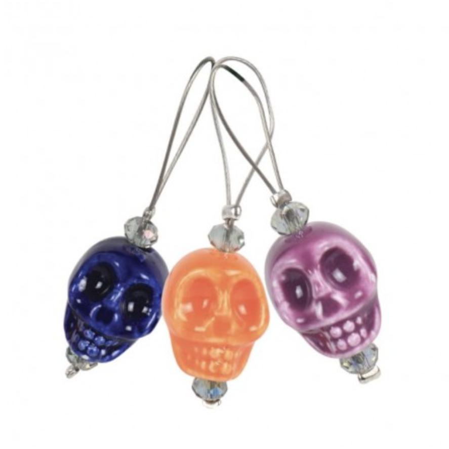 KnitPro 12 pieces stitch markers Skull Candy