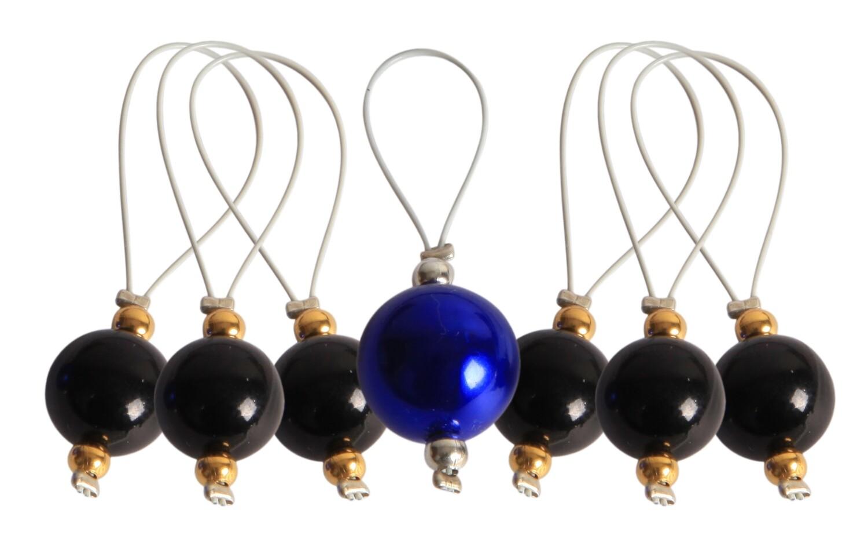 KnitPro 7 pearls - stitch markers Midnight Beauty
