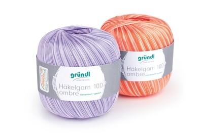 Gründl crochet yarn 100 ombre 100g