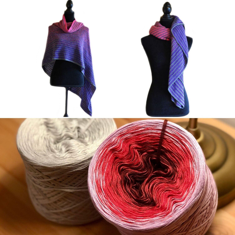 Bundle: Yarn & The Tube Thing Lines Lady crochet pattern - video & PDF - Woolpedia®