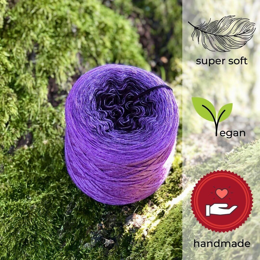 Woolpedia® Colors Purple Rain Farbverlaufsgarn (Modal)