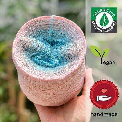 Woolpedia® Colors Wasserblüte organic gradient yarncake (pure cotton)