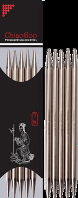 "ChiaoGoo steel double pointed needles 15cm 6"""