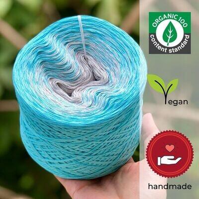 Woolpedia® Colors Mittelmeer organic gradient yarncake (pure cotton)