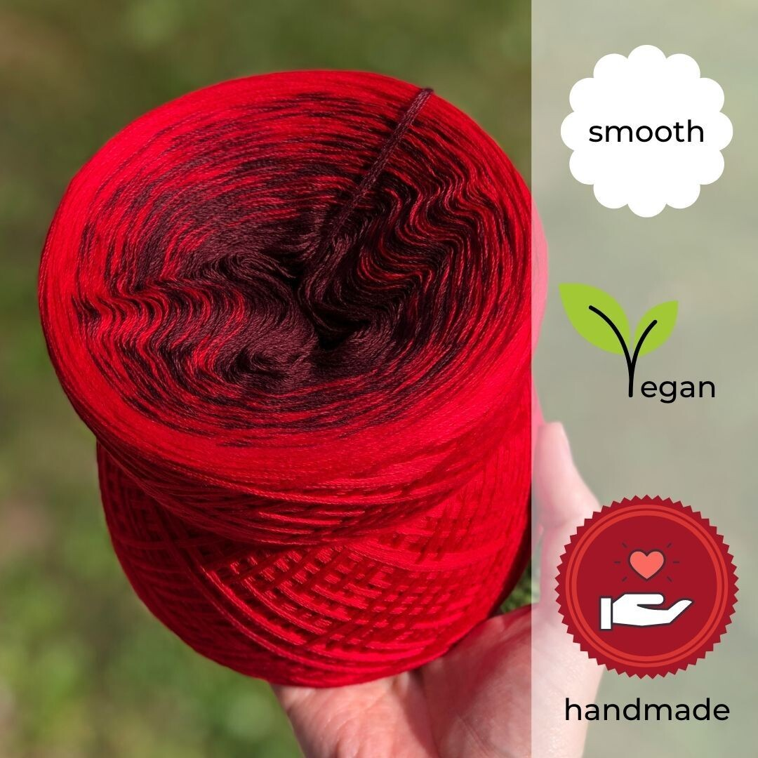 Woolpedia® Colors Kirsch-Sorbet gradient yarncake (cotton-mix)